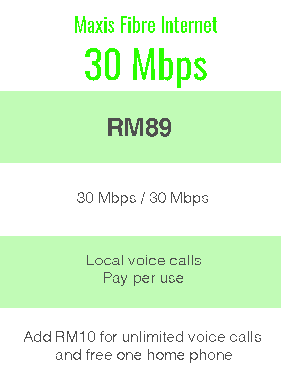 Package Info - maxis 30