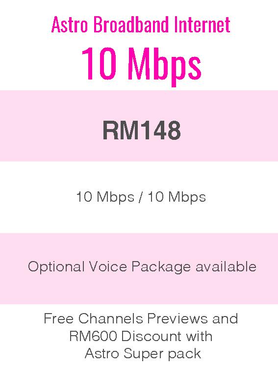 Astro Broadband Internet 10Mbps