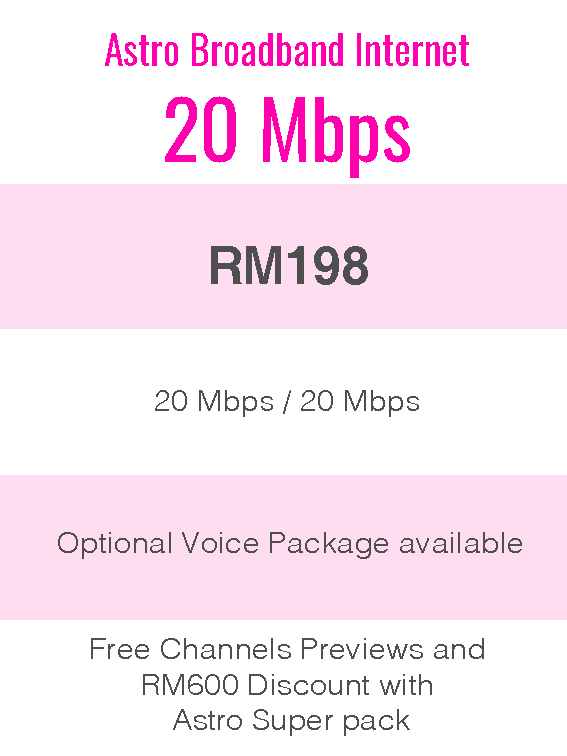 Astro Broadband Internet 20Mbps