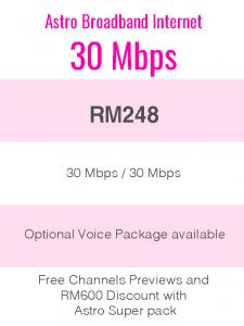 Astro Broadband Internet 30Mbps