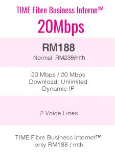 TIME Fibre Business Internet™ 20Mbps