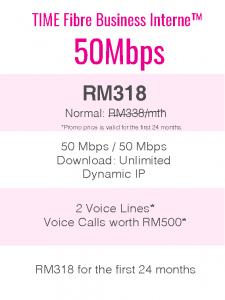 TIME Fibre Business Internet™ 50Mbps
