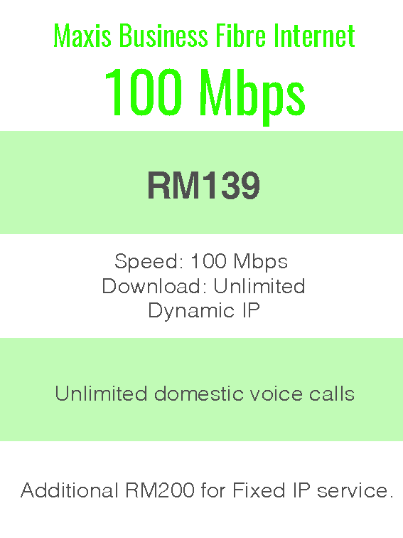 Package Info - maxis business 100Mbps