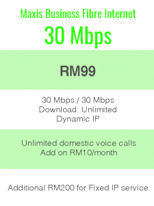 Package Info - maxis business 30Mbps