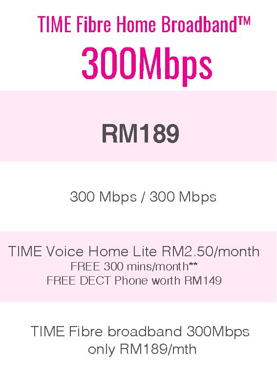 TIME Fibre Home Broadband™ 300Mbps