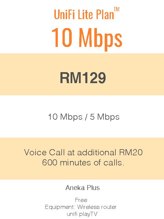 UniFi Lite Plan™ 10Mbps