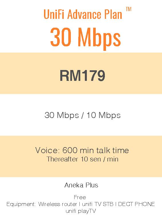 UniFi Advance Plan™ 30Mbps