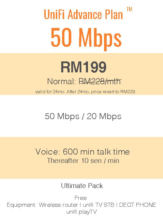 UniFi Advance Plan™ 50Mbps