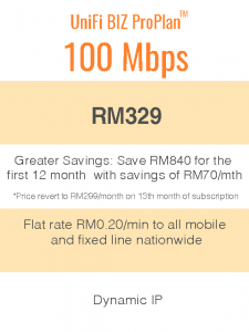 Package Info - unifi biz 100mbps