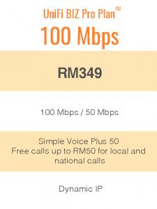 UniFi BIZ Pro Plan 100Mbps