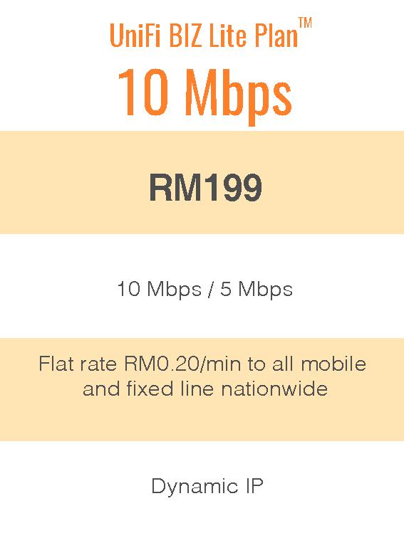 UniFi Biz Lite Plan™ 10Mbps