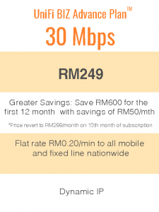 Package Info - unifi biz 30mbps