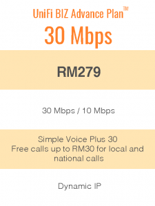 UniFi Biz Advance Plan™ 30Mbps